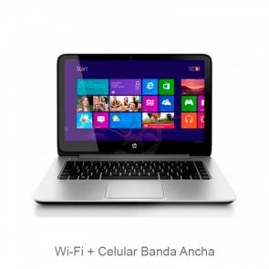 "Laptop HP ENVY TouchSmart 14-K111NR Intel Core i5-4200U 1.6GHz, RAM 8GB, HDD 500GB + SSD 8GB, Conectividad WiFI+Celular, LED 14"" QHD Retina Touch, Win 8.1/Win10"