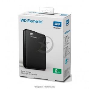 "Disco duro externo Wester Digital Elements portable 2TB USB 3.0 2.5"" Black"