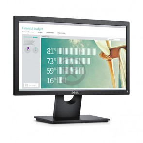 "Monitor DELL E1916H de 18.5"", LED, 1366 x 768.  Brillo 200 cd/m2, contraste 1000:1, interfaz VGA / DisplayPort."