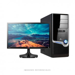 PC VALUE Intel Dual Core G4400 3.30GHz, RAM 4GB, HDD 500GB, DVD, LED  18.5""