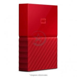 "Disco Duro externo Wester Digital My Passport 2TB 2.5"" Rojo"