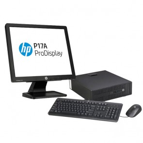 PC HP EliteDesk 705 G1 SFF AMD A8 PRO-7600B 3.1GHZ, RAM 4GB, HDD 500GB, Win 8.1 / Win 10 Pro + Monitor HP ProDisplay P17A