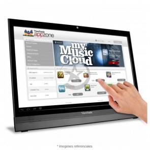 "Monitor smart ViewSonic VSD220-S 22"" Touch, Full HD (1920x1080) Capacidad táctil, HDMI, USB, Wi-FI, Cámara web, Android 4.0"