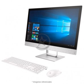 "PC Todo en Uno HP Pavilion 24-R025 Touch, APU AMD Quad-Core A12-9730P 2.84GHz, RAM 12GB, HDD 1TB, DVD, Wi-FI, BT, Pantalla LED 23.8"" Full HD Táctil, Windows 10 Home"