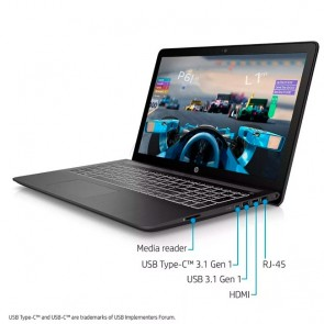 "Laptop HP Pavilion 15-cb002la Power, Intel Core™ i7-7700HQ 2.8GHz, RAM 8GB, HDD 1TB, Video 4GB Nvidia GeForce GTX 1050, LED 15.6"" Full HD"