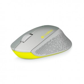 Logitech Mouse Wireless M280 - Plateado - Inalámbrico - 1000dpi -Nano