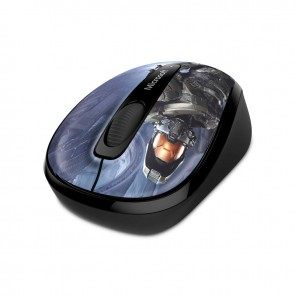 Microsoft Mouse Wireless Mobile 3500 -  Halo Limited Edition: The Master Chief -  Inalámbrico