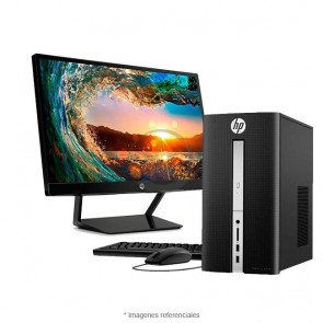 PC HP Pavilion 570 P023W, Intel Core i5-7400 3.0GHz, RAM 8GB, HDD 1TB+Sólido SSD 128GB PCIe NVMe, Wi-FI, BT, DVD, Windows 10 Home + Monitor HP Pavilion 22CWA