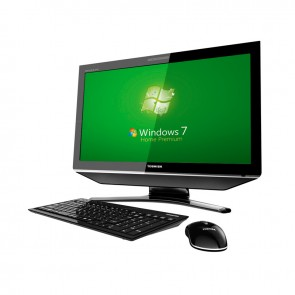 "PC Todo en Uno Toshiba DX730-01C Core i3-2330M 2.2GHz, RAM 4GB, HDD 1TB, DVD, LED 23"" Full HD Touch, Windows 7 / 10"