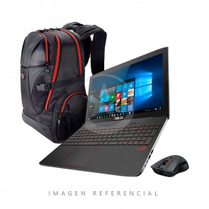 "Laptop Asus ROG GL753VW-T4176UPG, Intel Core i7-6700HQ 2.60GHz, RAM 32Gb, HDD 1Tb + 512GB SSD, Video GTX-960 4GB , Blu-Ray, LED 17.3"" Full HD, Windows 10"